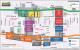 Map RÉSO. Underground city Montreal souterraine. Subterránea. Mapa, carte.