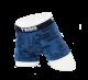 Boxer Brief, calzón tipo biker, ropa interior para hombre de tela de algodón peinado y spandex color azul con diseño de letreros. Marca Twins.