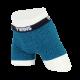 Boxer Brief, calzón tipo biker, ropa interior para hombre de tela de algodón peinado y spandex color azul plumbago con diseño de flechas. Marca Twins.