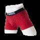 Boxer Brief, calzón tipo biker, ropa interior para hombre de tela de algodón peinado y spandex color rojo con diseño de flechas. Marca Twins.