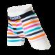 Boxer Brief, calzón tipo biker, ropa interior para hombre de tela de algodón peinado y spandex. Diseño de franjas de colores neon. Marca Twins.