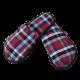 Pantuflas para hombre de franela de algodón con cuadros pequeños en color Gris, Rojo, Beige, Azul.