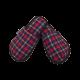 Pantuflas para hombre de franela de algodón con cuadros Rojo, Marino, Beige Oscuro.