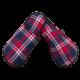 Pantuflas para hombre de franela de algodón con cuadro escocés Azul, Rojo, Blanco.