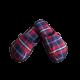 Pantuflas para hombre de franela de algodón con cuadro escocés grande Azul, Rojo, Blanco.